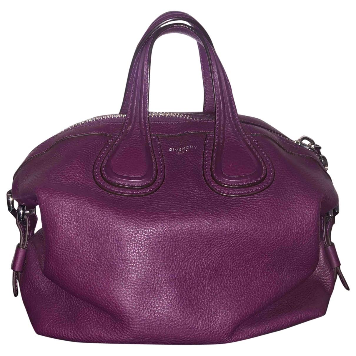 Givenchy - Sac a main Nightingale pour femme en cuir - violet