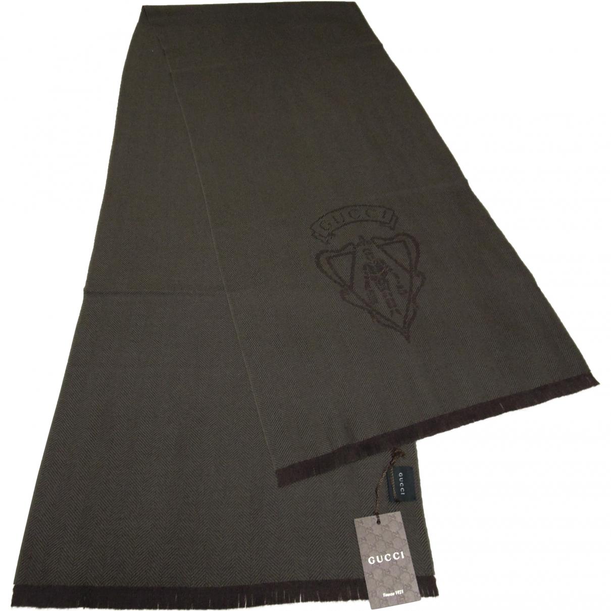 Gucci \N Brown Wool scarf & pocket squares for Men \N
