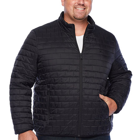 Dockers Wind Resistant Water Resistant Midweight Puffer Jacket - Big and Tall, 4x-large , Black