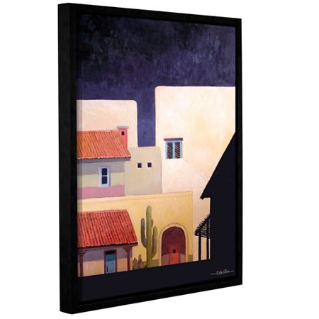 Brushstone Adobe Village Forms Gallery Wrapped Floater-Framed Canvas Wall Art, One Size , Brown