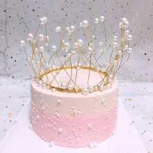 1 Stueck Kuchen Dekoration mit Kunstperlen