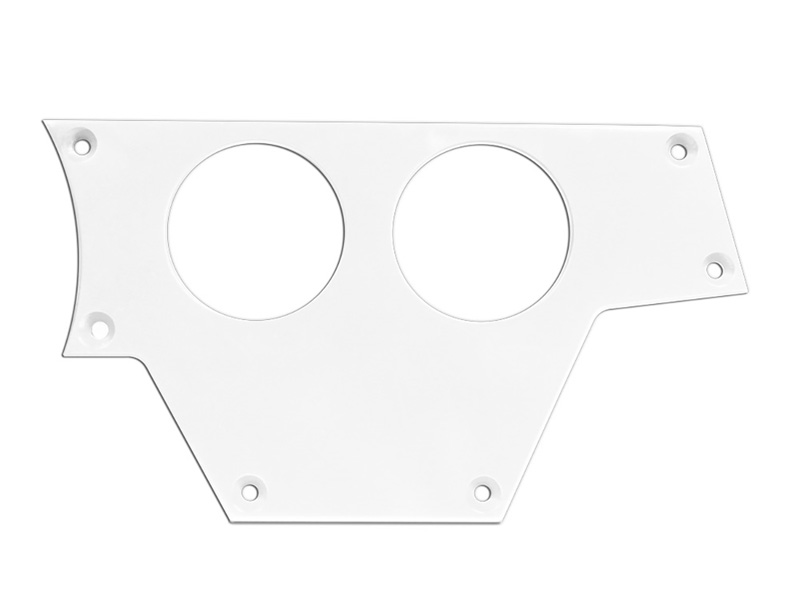 Right Side 2 Gauge Switch Plate for Polaris RZR White PRP Seats ODL-217084