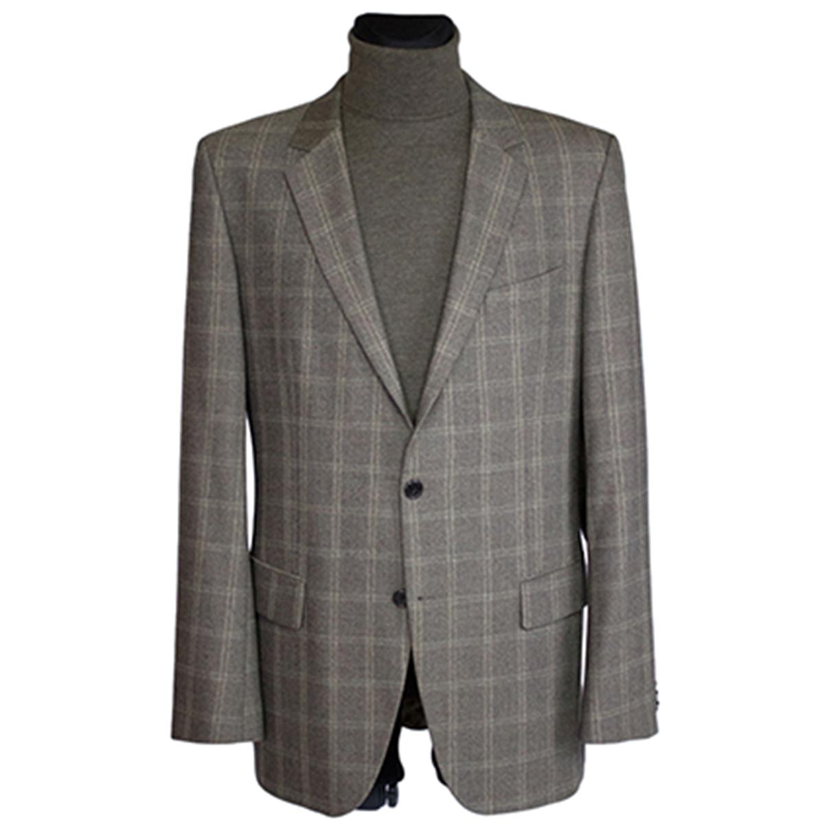 Hugo Boss - Vestes.Blousons   pour homme en laine - marron