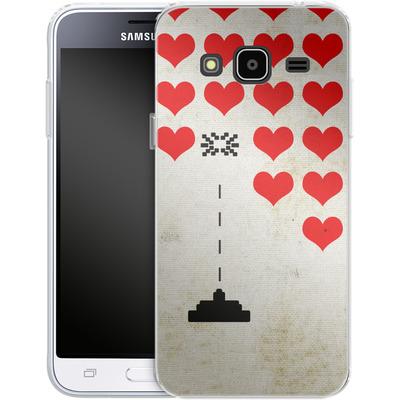 Samsung Galaxy J3 (2016) Silikon Handyhuelle - Heart Attack von Claus-Peter Schops