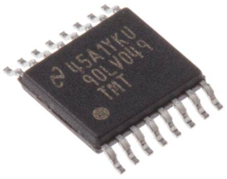 Texas Instruments DS90LV049TMT/NOPB, LVDS Transmitter Dual LVCMOS, LVTTL LVDS, 16-Pin, TSSOP (5)