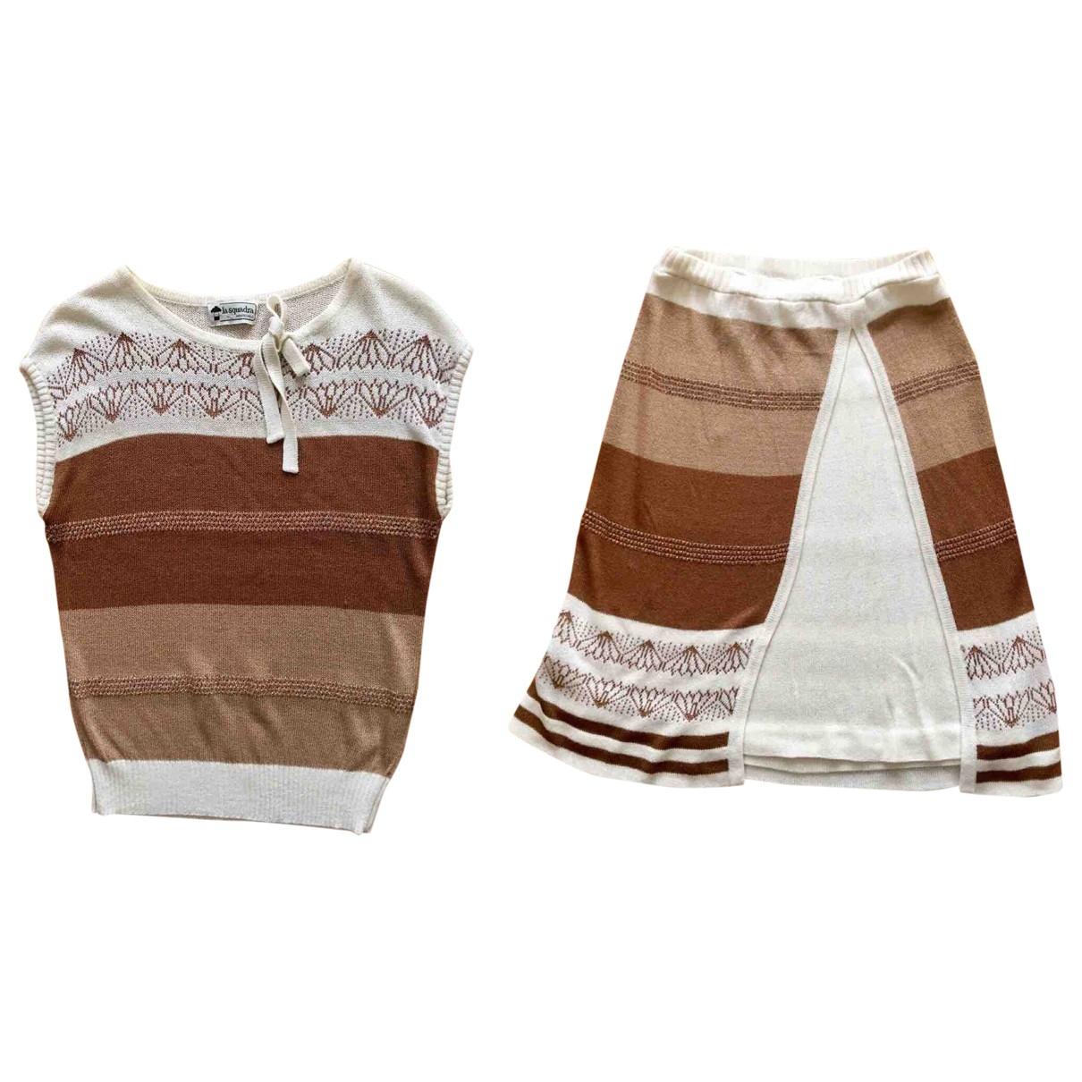 Non Signé / Unsigned \N Brown Cotton jumpsuit for Women 38 FR