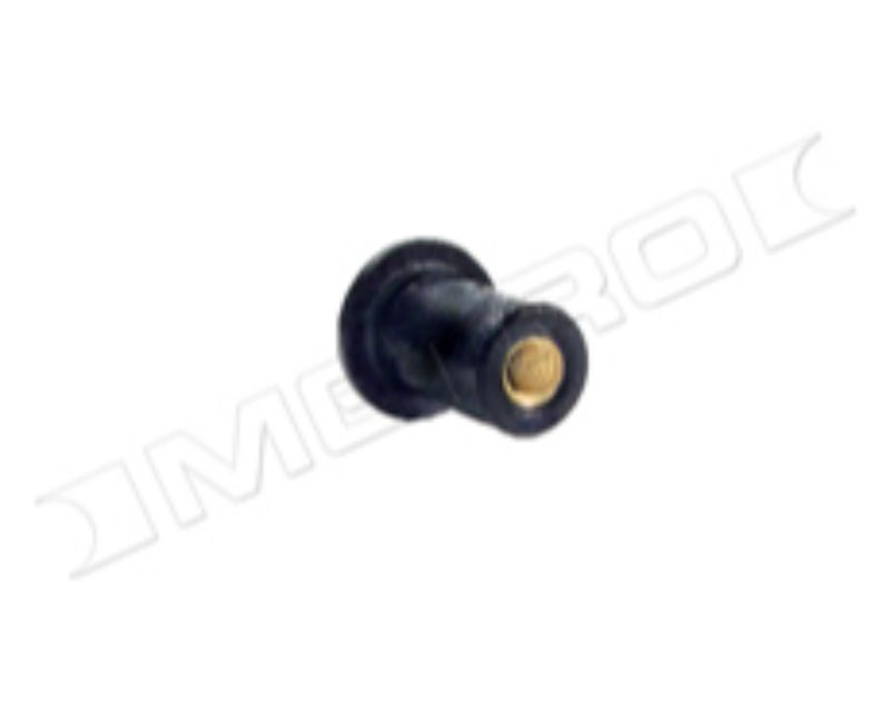 Metro Moulded WN 4 Well Nut | 10-32 | Neoprene With Brass Nut