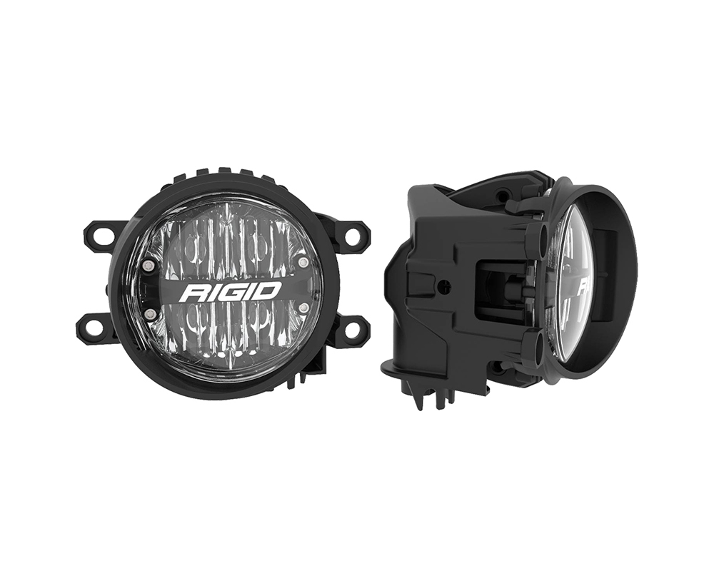 RIGID Industries Toyota Fog Mount Kit For 10-20 Tundra/4Runner 16-20 Tacoma With 1 Set 360-Series 4.0 Inch SAE White Lights
