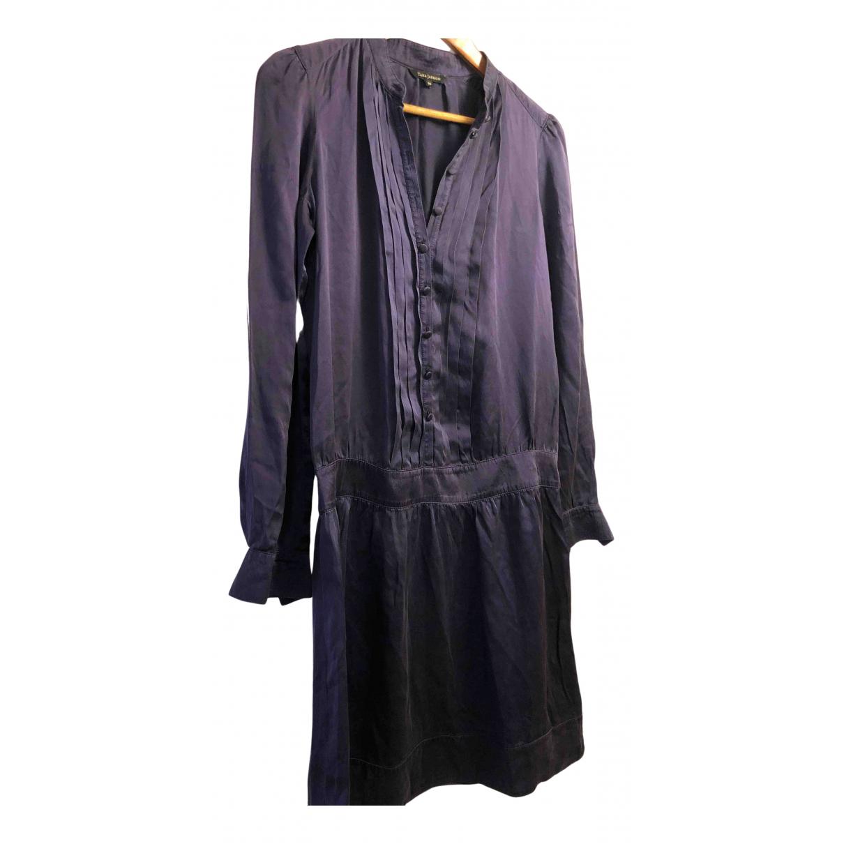 Tara Jarmon \N Kleid in  Blau Seide