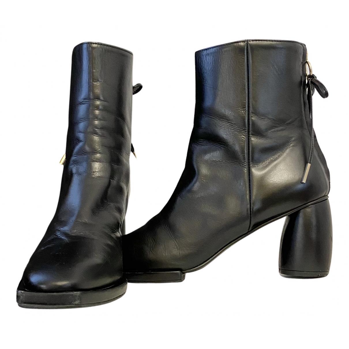 Reike Nen \N Stiefeletten in  Schwarz Leder