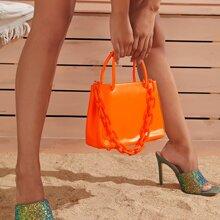Minimalist Double Handle Satchel Bag
