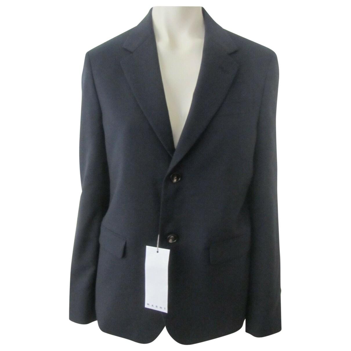 Marni \N Navy Cotton jacket  for Men 46 IT