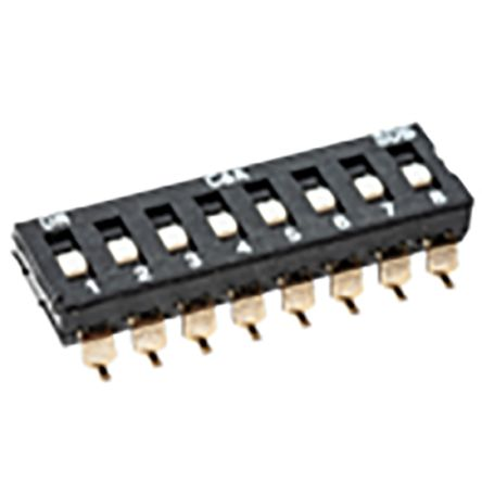 C & K 9 Way Surface Mount DIP Switch 9P9T, Extended Slide Actuator (20)