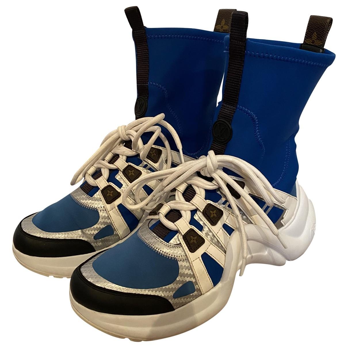Louis Vuitton - Baskets Archlight pour femme en cuir - bleu