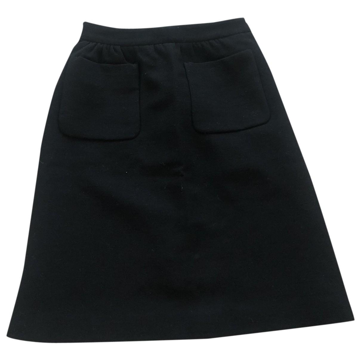 Miu Miu \N Black Wool skirt for Women 36 FR