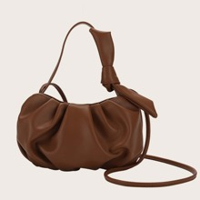 Bow Decor Ruched Bag