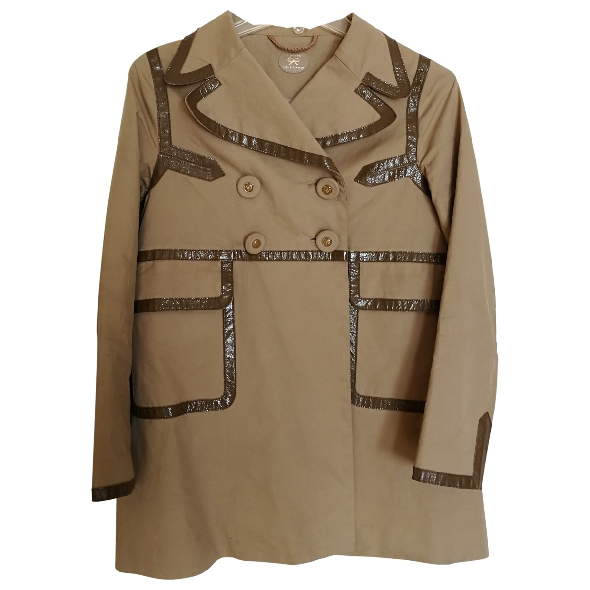 Anya Hindmarch \N Camel Cotton jacket for Women 8 UK