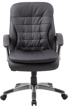 B9336 38 Mid Back Executive Chair with Patented Ribbed Pillow Design  Pillow Top Cushions  Padded Armrests  Upright Locking Position and Gas Lift