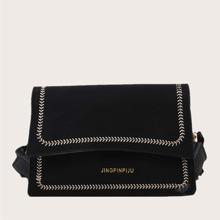 Embroidered Detail Shoulder Bag