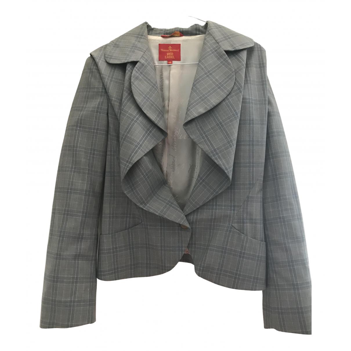 Vivienne Westwood Red Label \N Jacke in  Blau Wolle