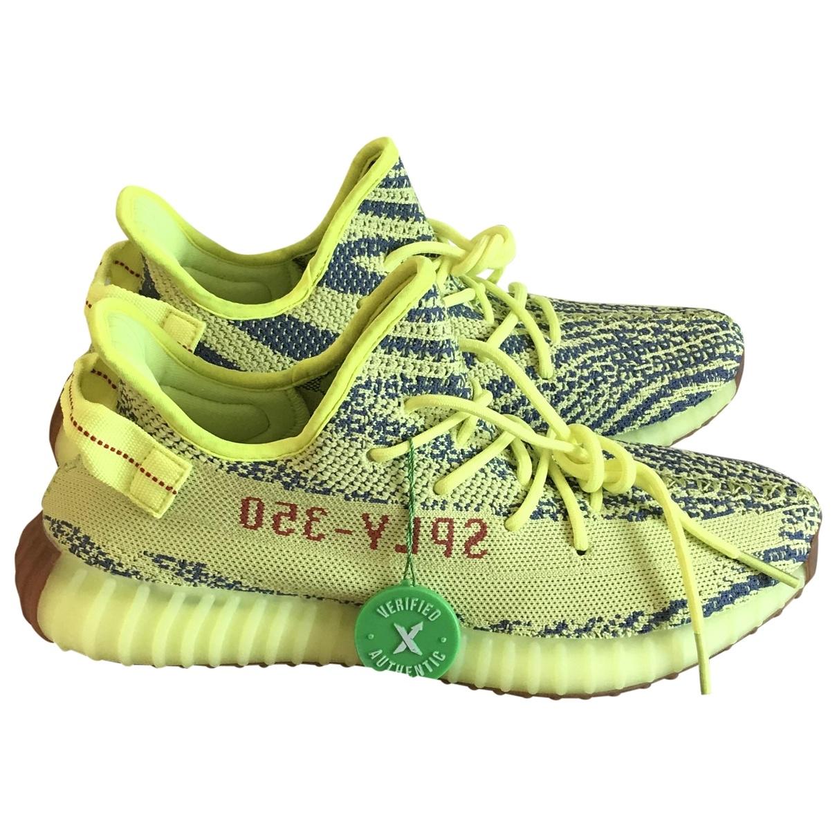 Yeezy X Adidas - Baskets   pour homme en toile - jaune