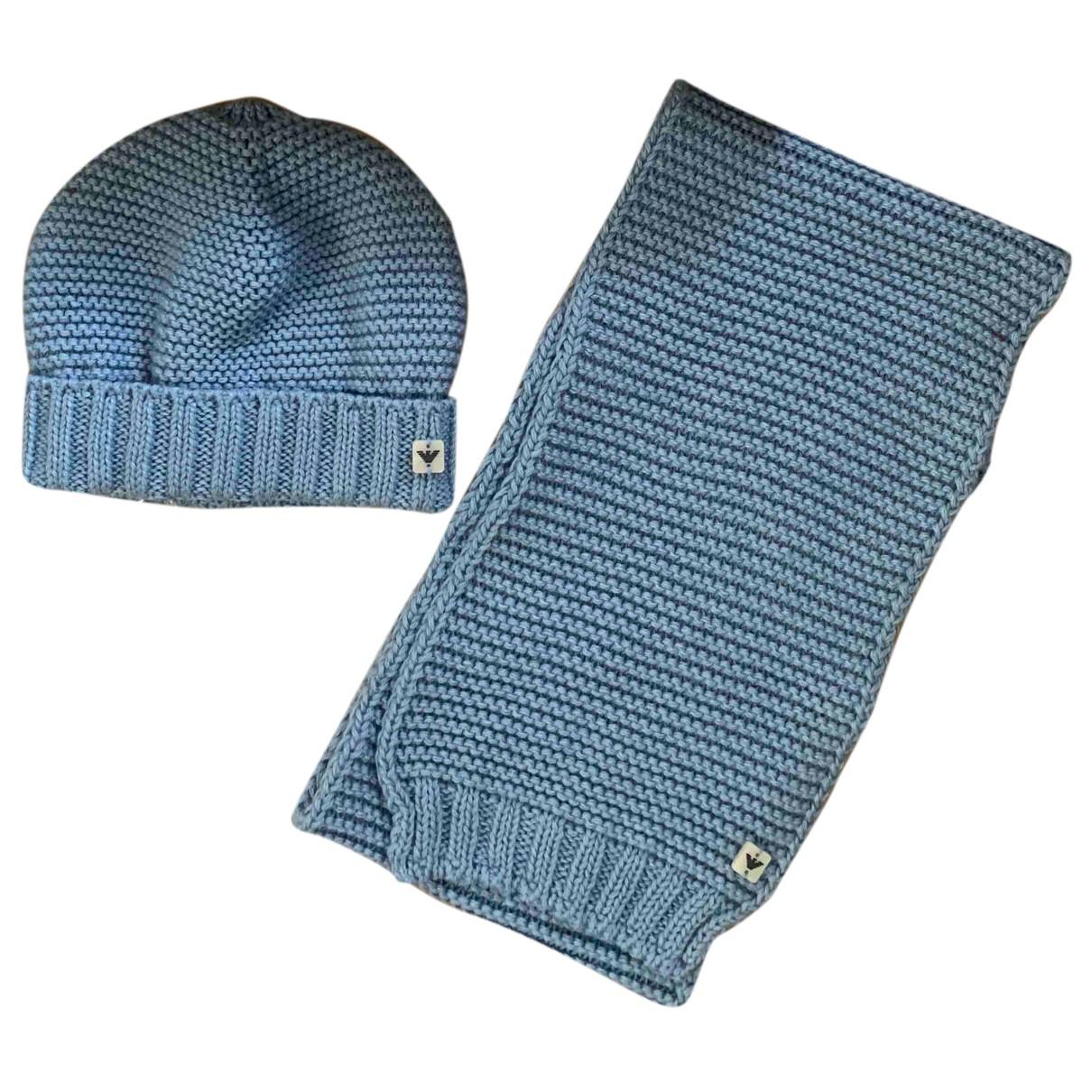 Giorgio Armani \N Hut, Muetzen, Handschuhe in  Blau Wolle