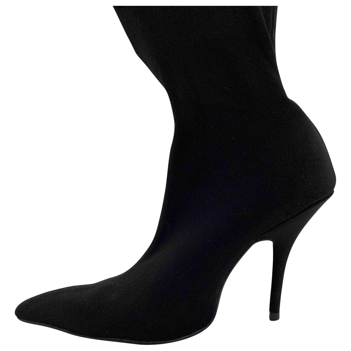 Balenciaga - Bottes Knife pour femme - noir