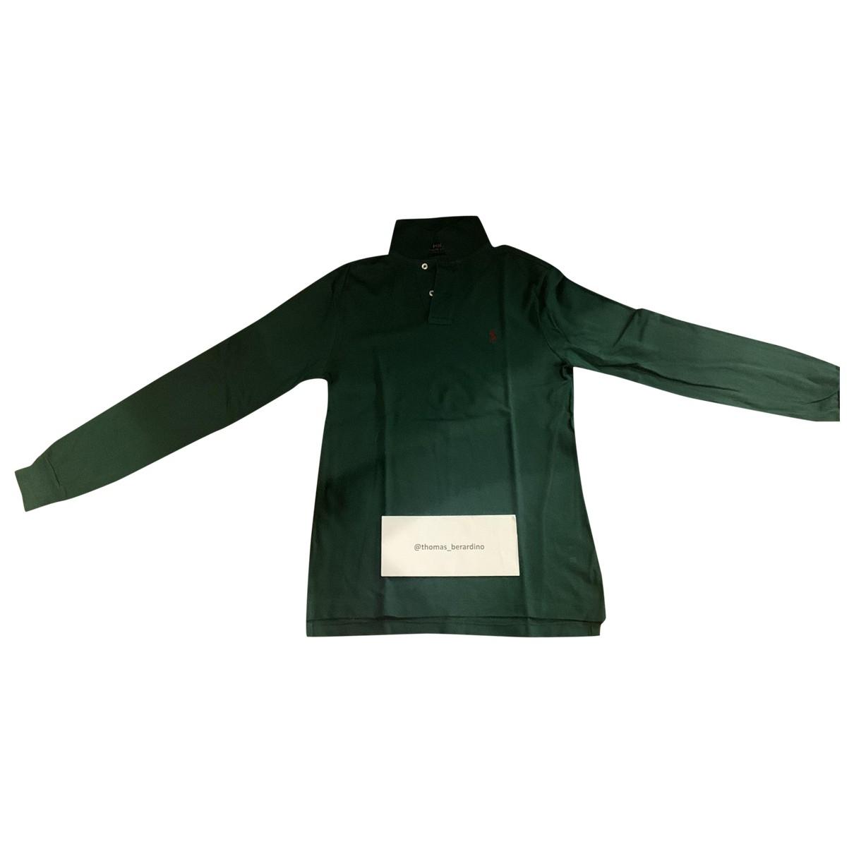 Polo Ralph Lauren - Polos Polo classique manches longues pour homme en coton - vert