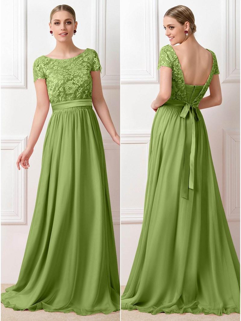 Ericdress Short Sleeves Lace Bridesmaid Dress
