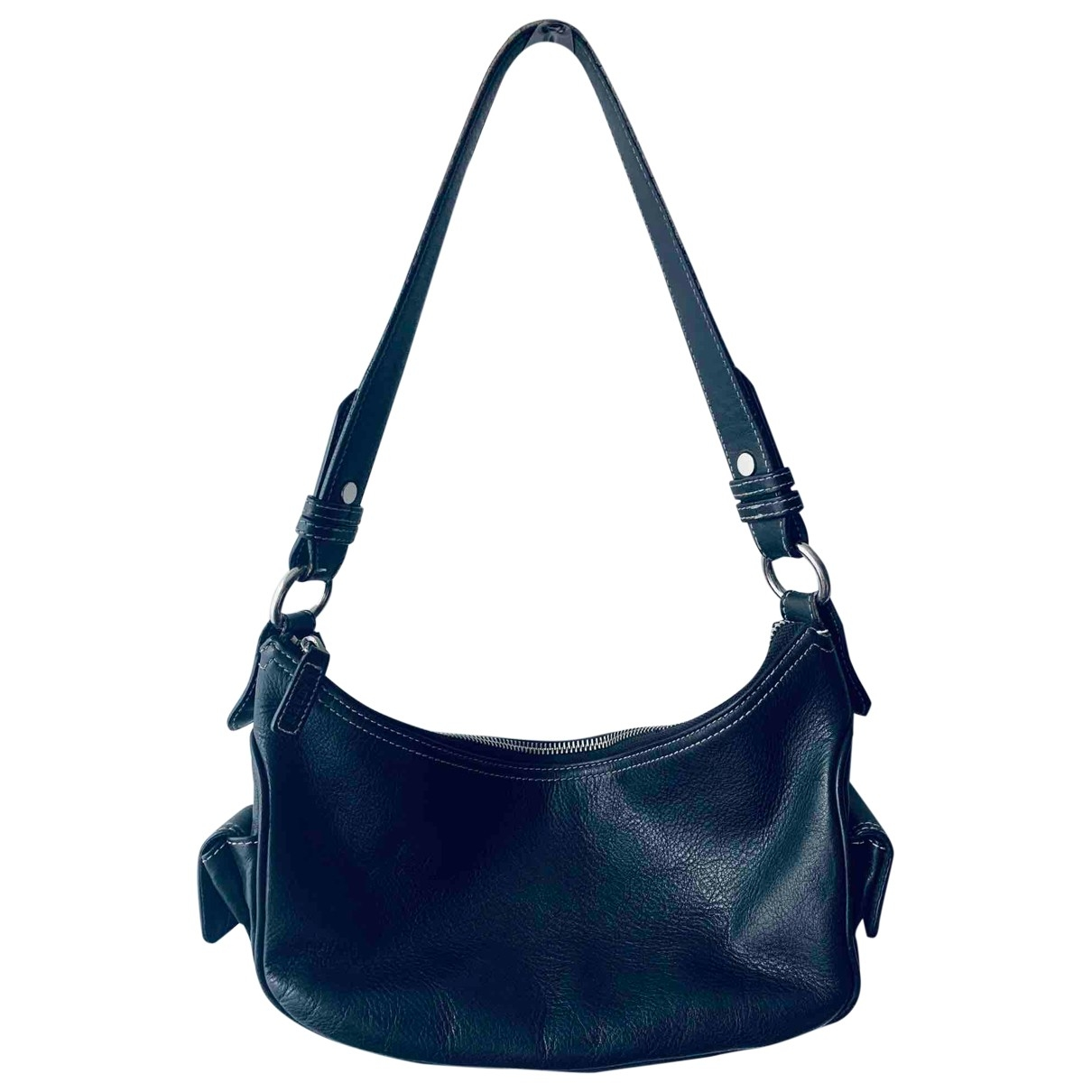 Lauren Ralph Lauren \N Black Leather handbag for Women \N