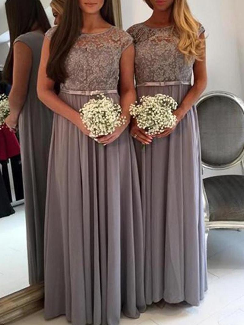 Ericdress Cap Sleeves Lace Bridesmaid Dress