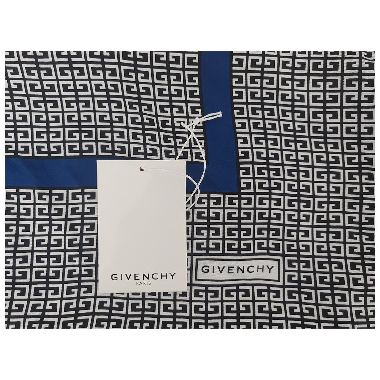 Givenchy - Foulard   pour femme en soie - bleu