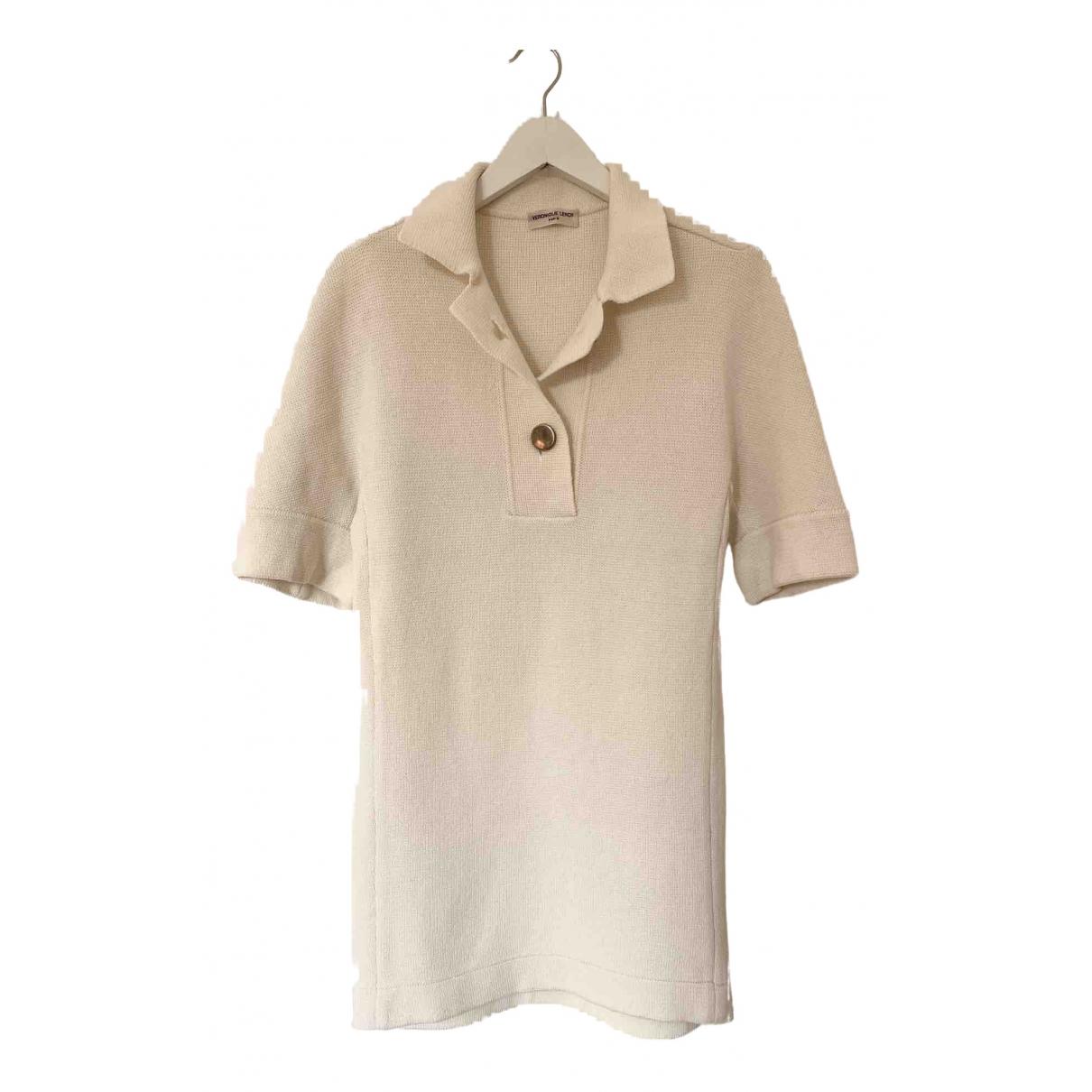 Veronique Leroy \N Kleid in  Weiss Baumwolle