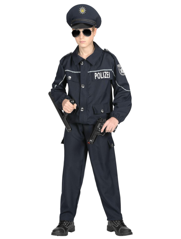 Kinder-Kostuem Polizist Kinder dunkelblau 3-tlg. 158 Grosse: 158