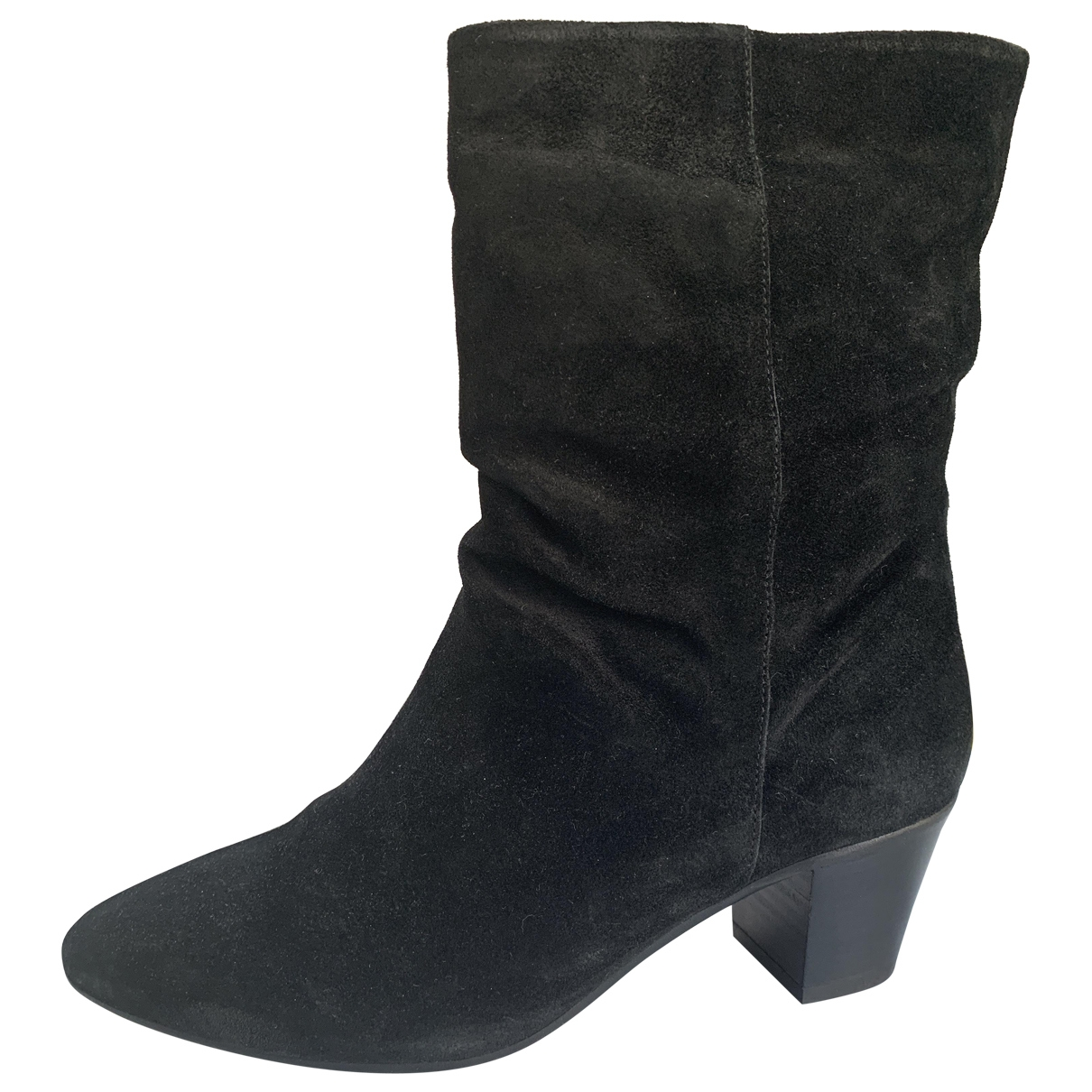 Non Signé / Unsigned \N Black Suede Ankle boots for Women 37 EU