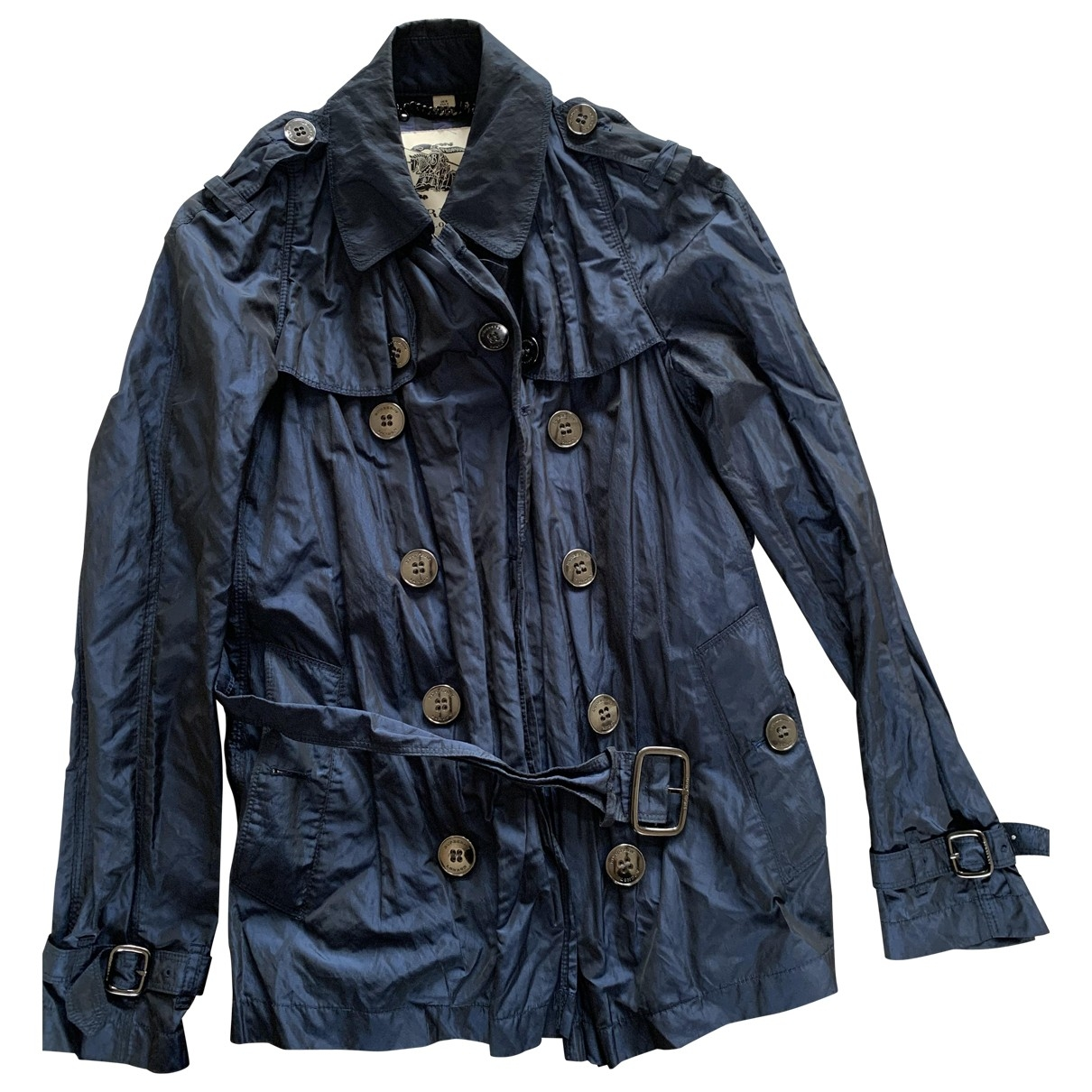 Burberry \N Trench in  Blau Polyester