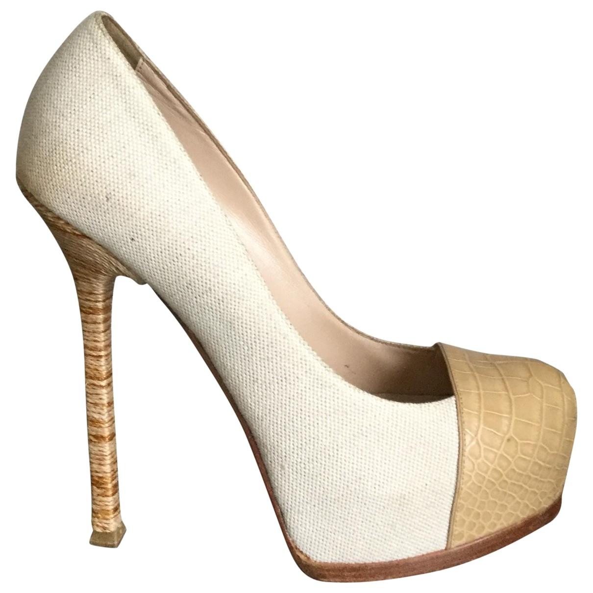 Yves Saint Laurent - Escarpins Trib Too pour femme en cuir exotique - beige