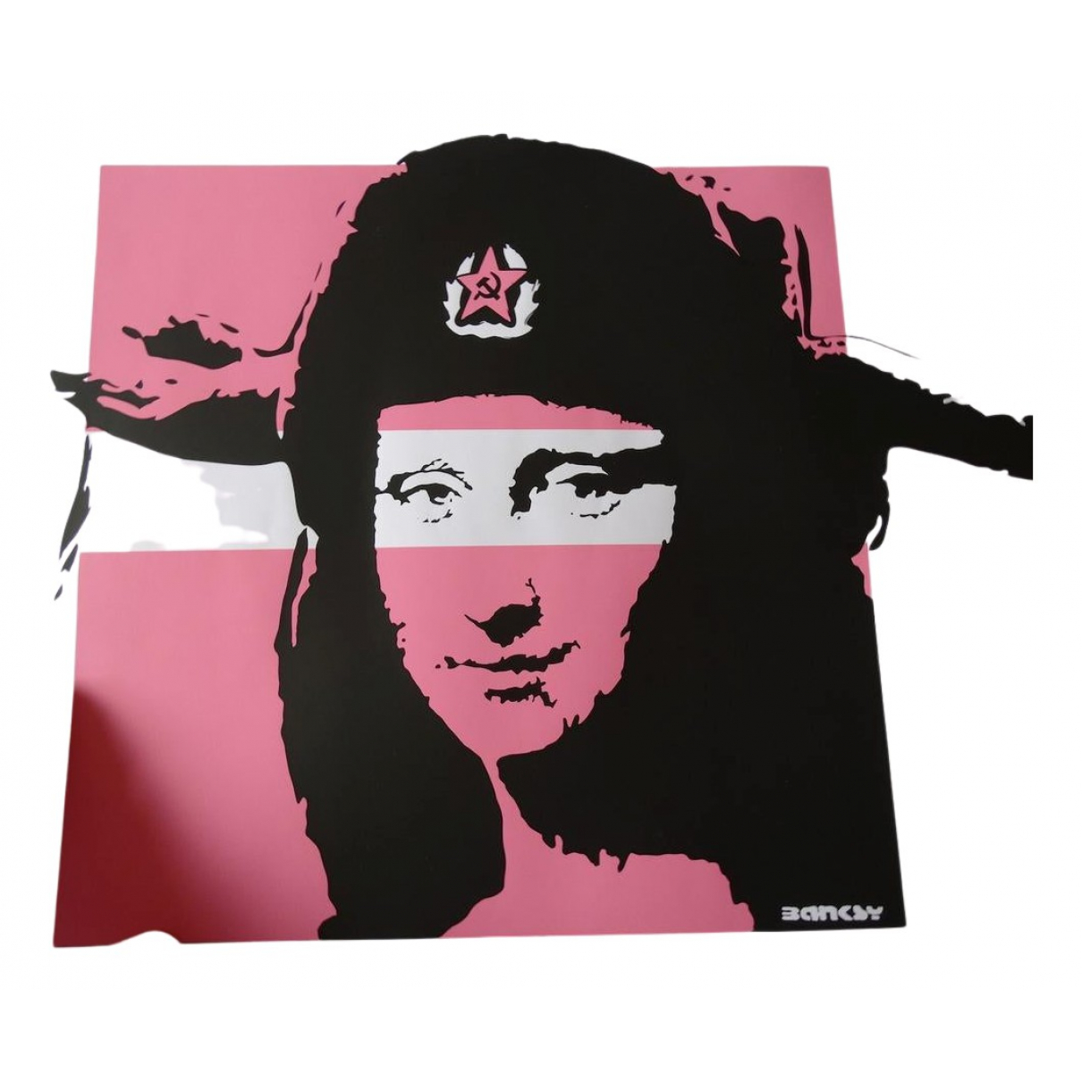 Banksy - Objets & Deco   pour lifestyle en coton - rose
