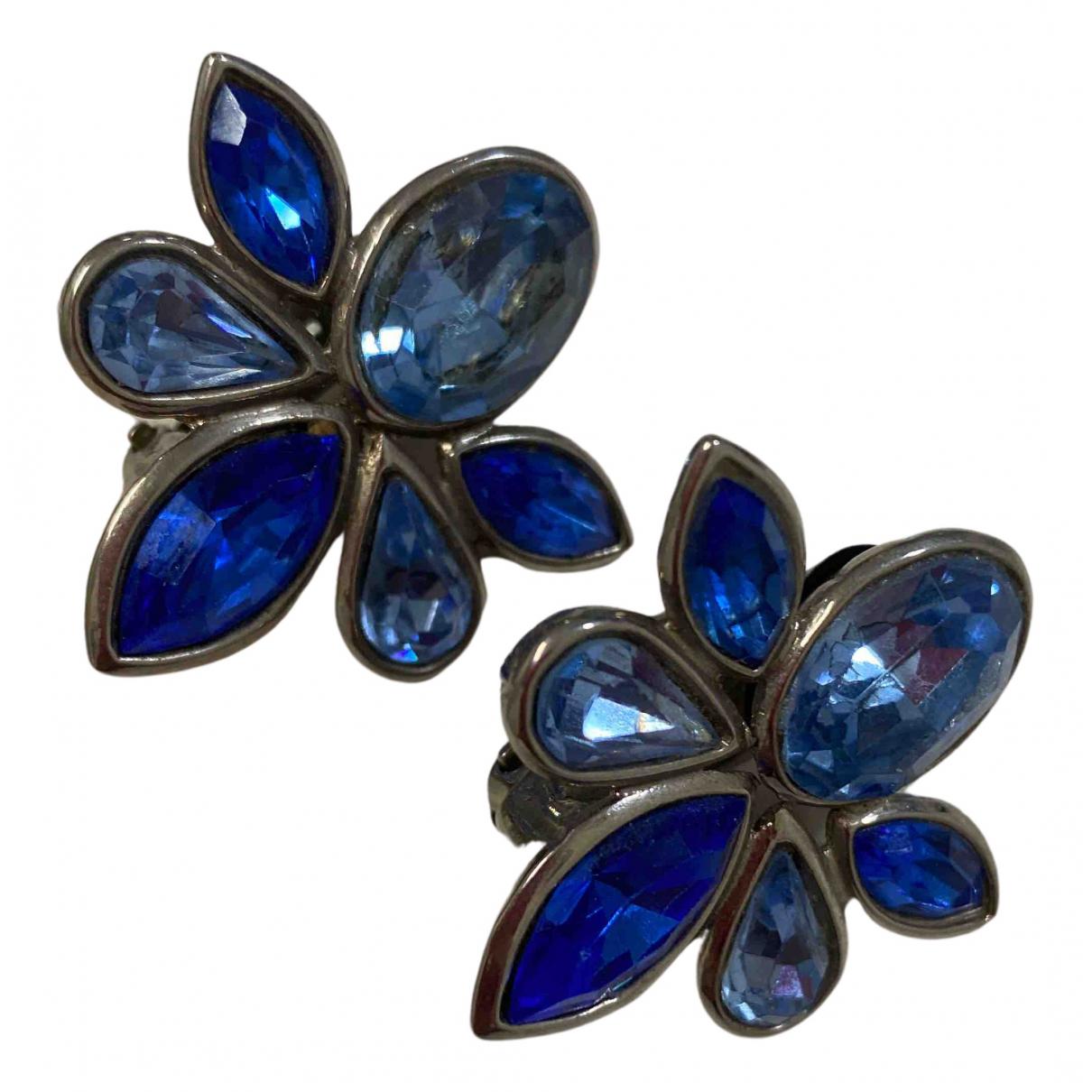 Yves Saint Laurent N Blue Metal Earrings for Women N