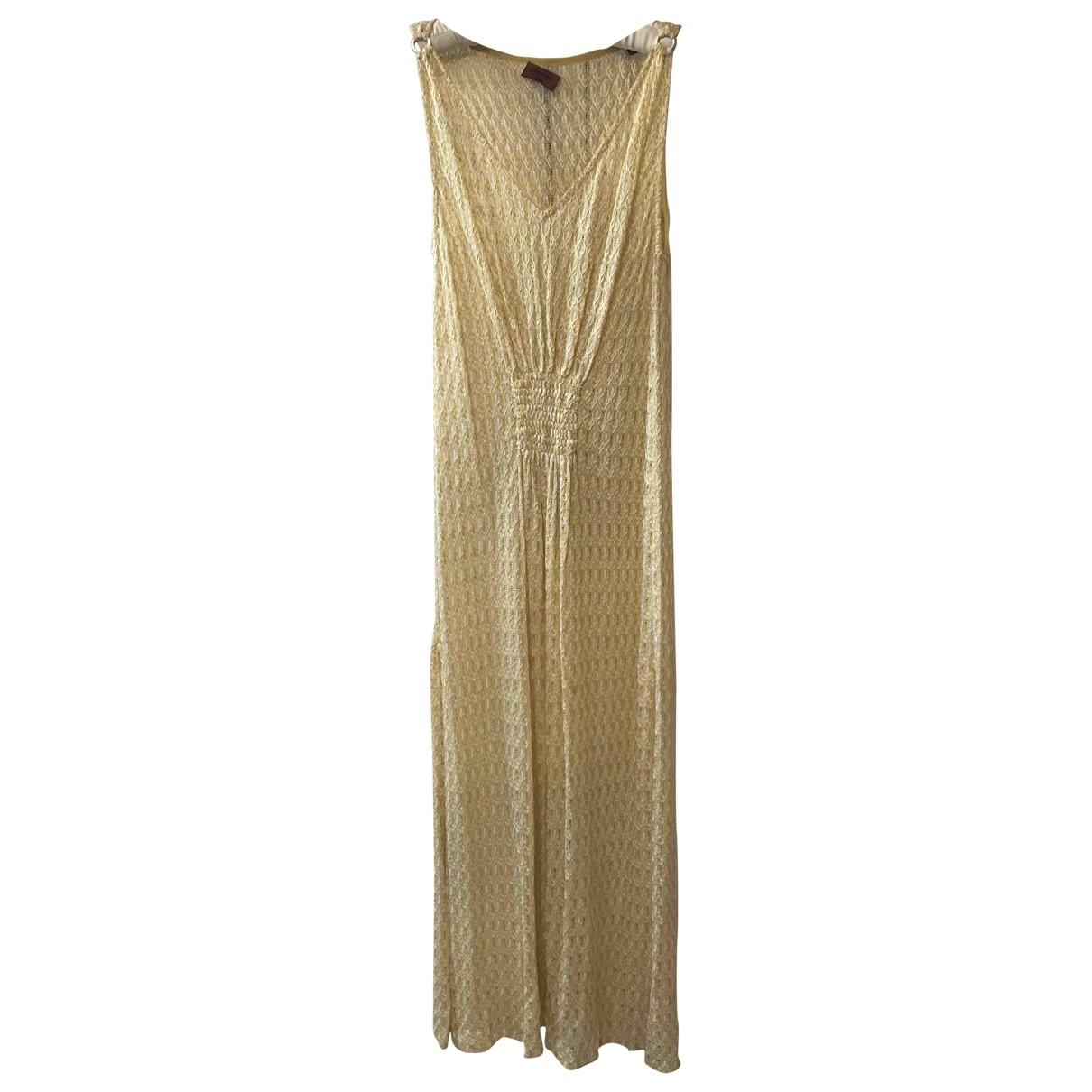 Missoni - Robe   pour femme en soie - jaune