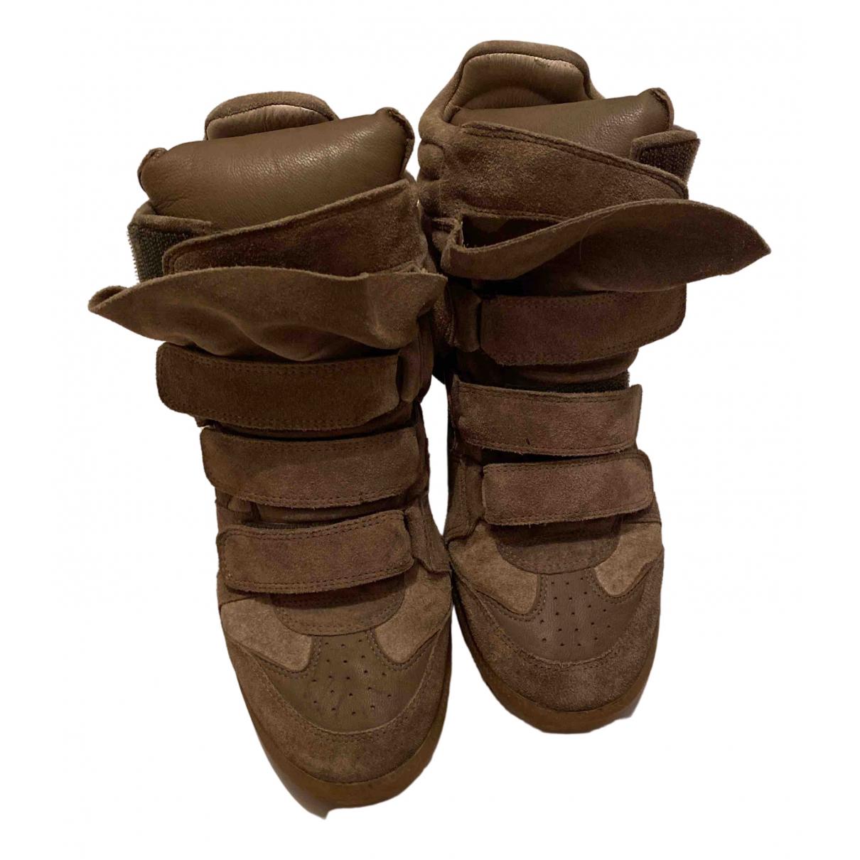 Isabel Marant - Baskets   pour femme en cuir - beige
