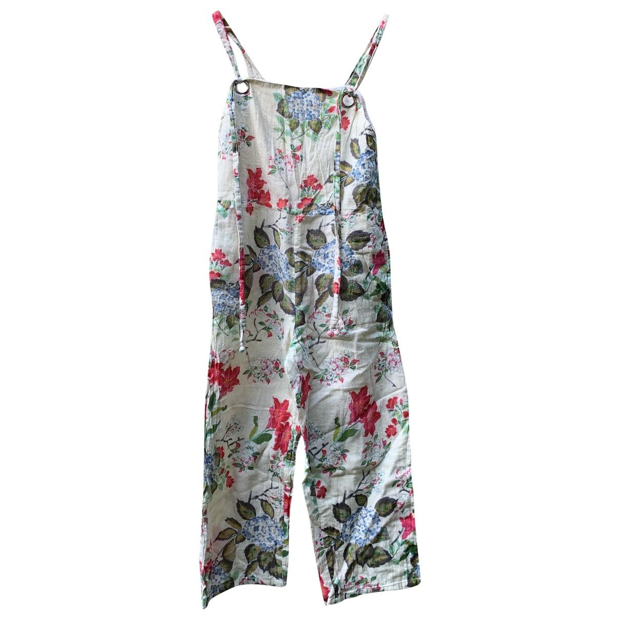 Mango \N Ecru Linen jumpsuit for Women M International
