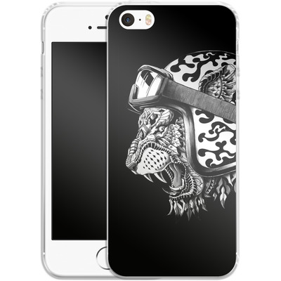 Apple iPhone SE Silikon Handyhuelle - Tiger Helm von BIOWORKZ