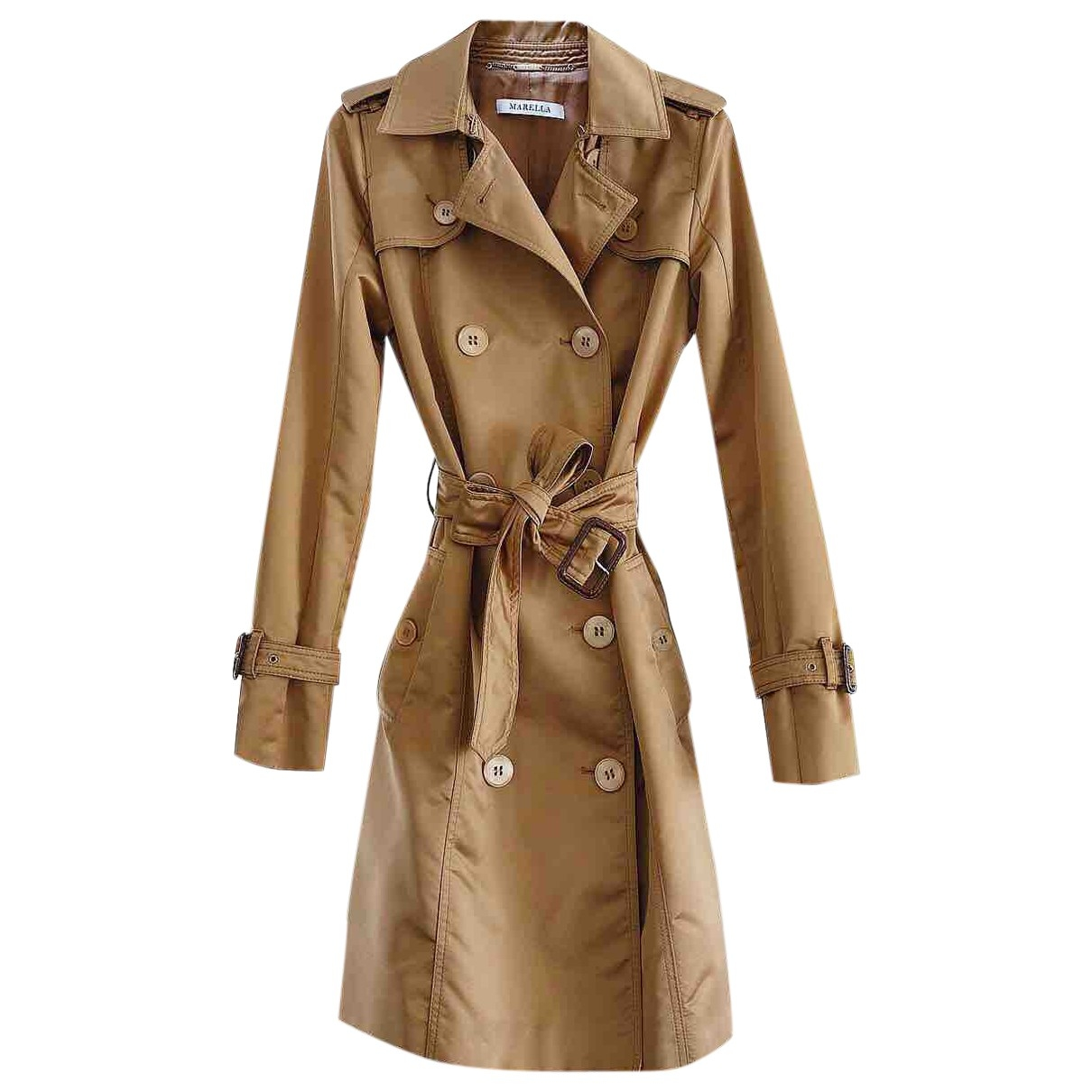 Marella \N Trench in  Beige Polyester