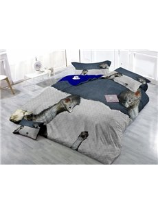 Fascinating Ostrich Wear-resistant Breathable High Quality 60s Cotton 4-Piece 3D Bedding Sets