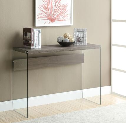 I 3055 Console Table - Dark Taupe with Tempered