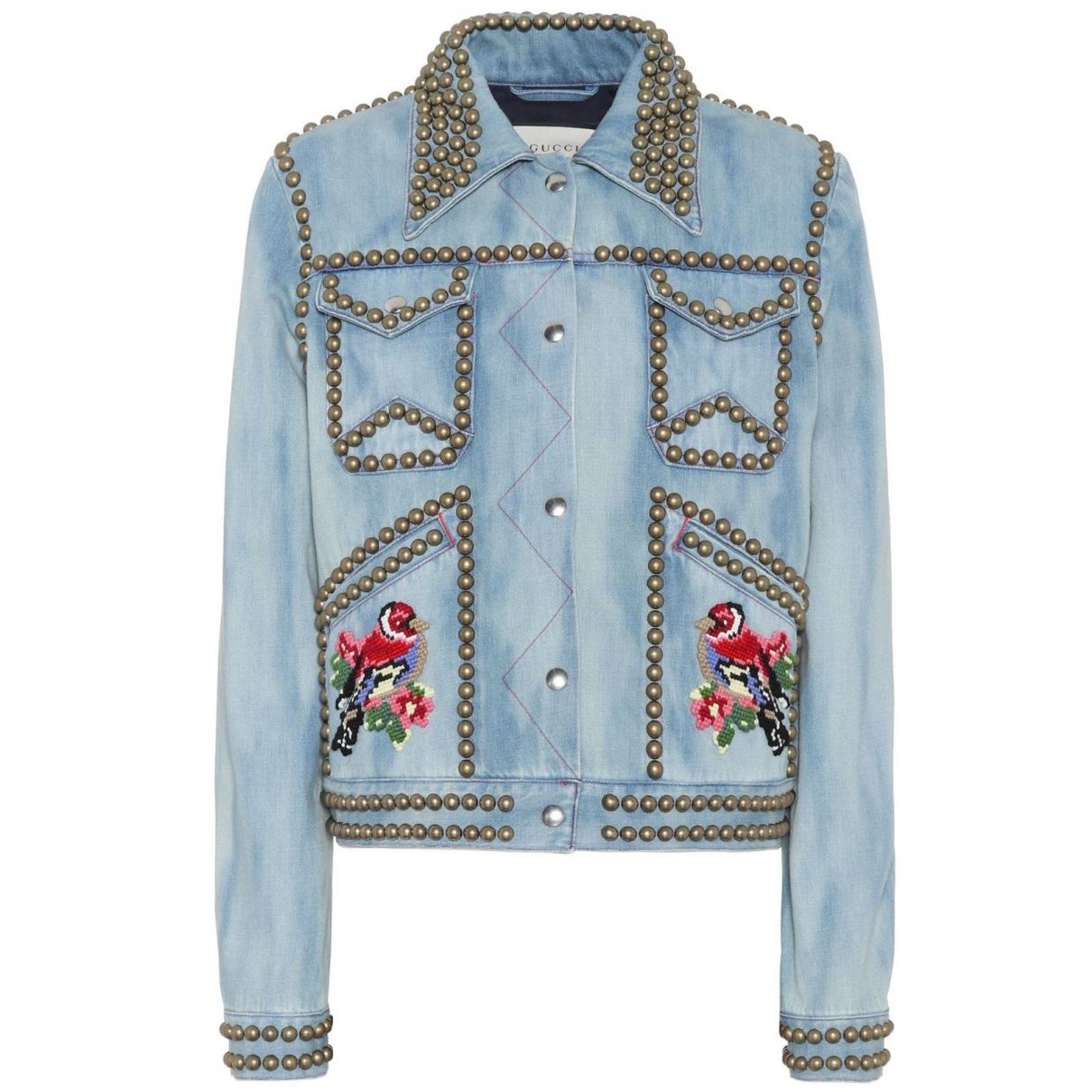 Gucci \N Blue Denim - Jeans jacket for Women 38 IT