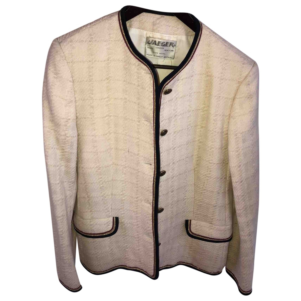 Jaeger London - Veste   pour femme en laine - blanc