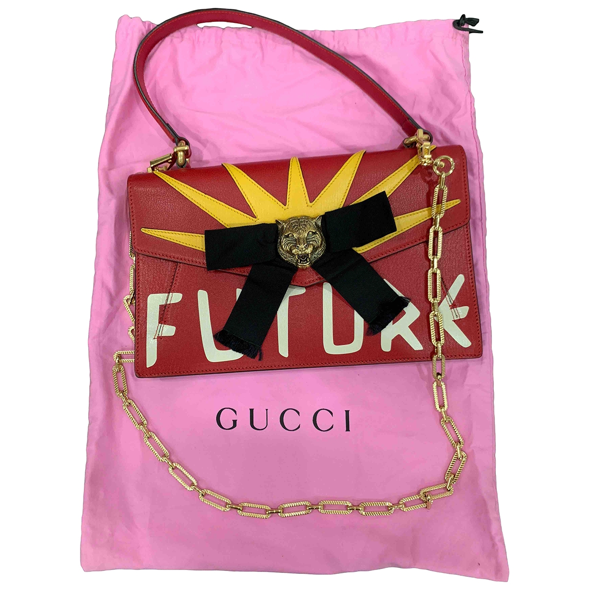 Gucci Animalier Red Leather handbag for Women \N
