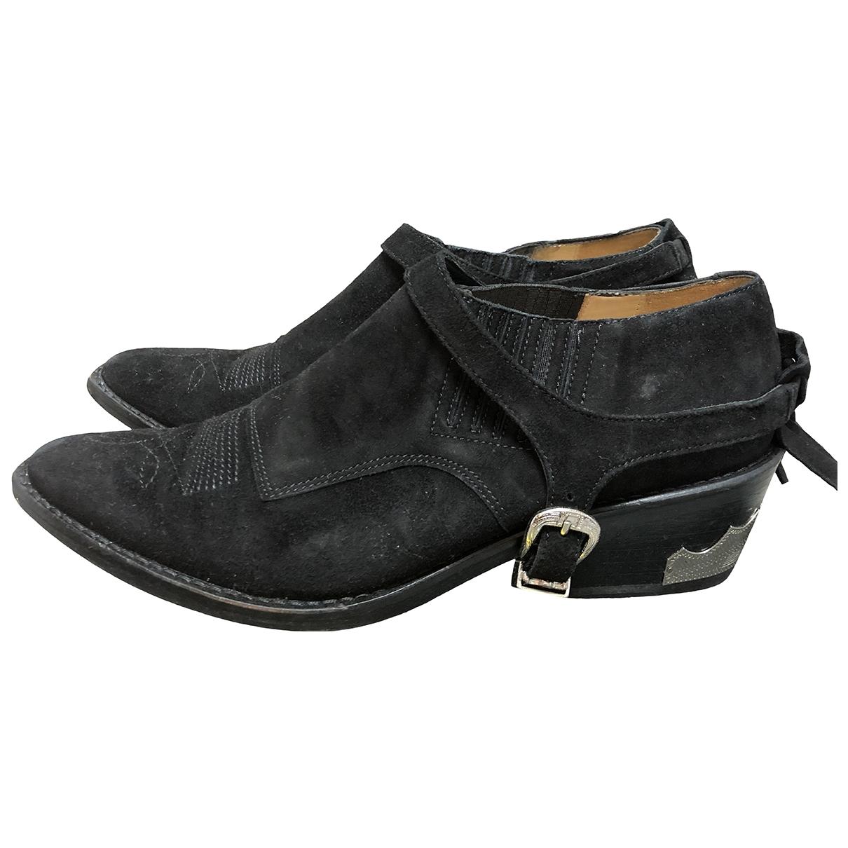Toga Pulla - Boots   pour femme en suede - noir